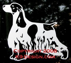 English Cocker Spaniel Decal - Choose Color
