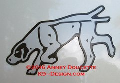 German Shorthaired Pointer Tracking Magnet - Choose Color