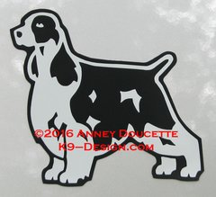 English Springer Spaniel Stacked Magnet - Choose Color