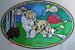 """Shetland Sheepdog """"Spring Pasture"""" XL Oval Magnet - Choose Dog Color"""