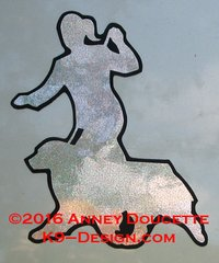 Brittany Gaiting With Handler Silhouette Magnet - Choose Hologram Color