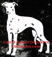 Whippet Design #2 Decal - Choose Color