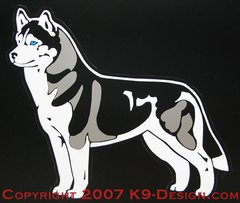 Siberian Husky Stacked Large Magnet - Choose Color