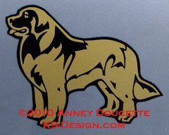 Leonberger Standing Small Magnet - Choose Color