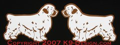 Clumber Spaniel Standing Magnet - Choose Docked or Natural Tail