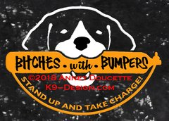 """German Shorthaired Pointer """"Bitches With Bumpers"""" Decal"""