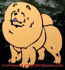 Rough Chow Chow Standing Decal - Choose Color