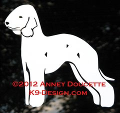 Bedlington Terrier Standing Decal