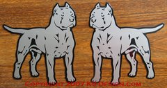 """American Staffordshire Terrier """"Pit Bull"""" Magnet - Choose Color &  Natural or Cropped Ears"""