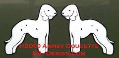Bedlington Terrier Standing Magnet