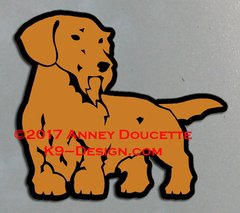 Wirehaired Dachshund Standing Magnet