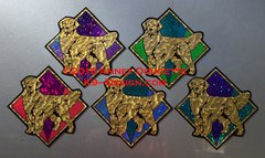 "Golden Retriever ""Jewel"" Magnet - Choose Color"