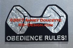 Obedience Rules! Magnet