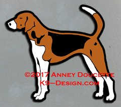 American Foxhound Standing Magnet