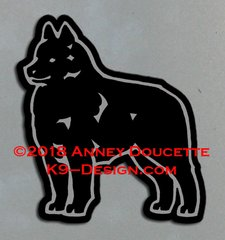 Schipperke Standing Magnet - Choose Color