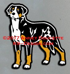 Greater Swiss Mountain Dog Standing Front Magnet