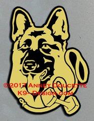 German Shepherd Dog Obedience Headstudy Magnet - Choose Color