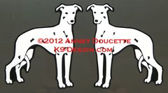 "Whippet ""Design #2"" Magnet - Choose Color"