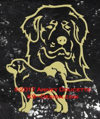 Tibetan Mastiff Large Decal - Choose Color