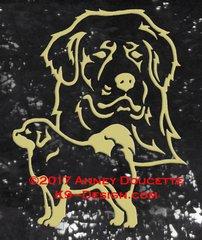 Tibetan Mastiff Large Decal - Choose Color