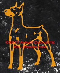 German Pinscher Standing Decal