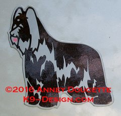 Briard Standing Magnet - Choose Color & Ears