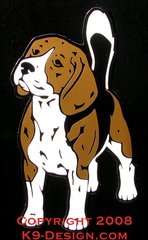 Beagle Standing Front Large Magnet