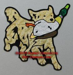 "Golden Retriever ""Slater"" Running With Duck Magnet"