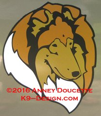 Collie - Rough - Headstudy Magnet - Choose Color