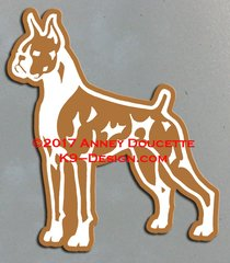 Boxer Stand Front Magnet - Choose Color