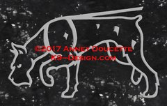 Giant Schnauzer Tracking Decal - Choose Color