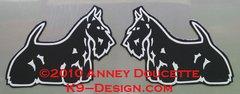 Scottish Terrier Standing Magnet - Choose Color