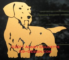 Wirehaired Dachshund Standing Decal