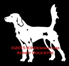 "English Setter ""Llewellin"" Field Hunting Decal"