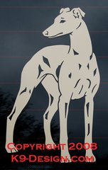 Whippet Design #1 Decal - Choose Color