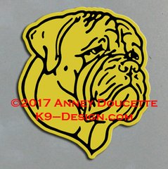 Bullmastiff Headstudy Magnet - Choose Color