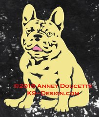 French Bulldog Sitting Decal - Choose Color