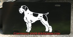 German Wirehaired Pointer Aluminum License Plate