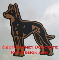 Manchester Terrier Standing Magnet
