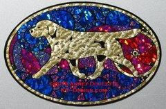 """Labrador Retriever """"Show Spectacular"""" XL Oval Magnet - Yellow or Black Dog"""