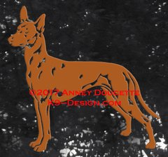 Pharaoh Hound Stacked Decal
