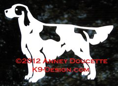 Irish Red & White Setter Standing Decal
