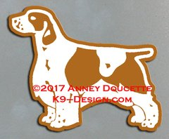 Welsh Springer Spaniel Standing Magnet - Choose Docked or Natural Tail
