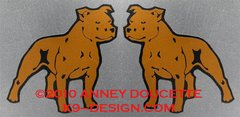 Staffordshire Bull Terrier Magnet - Choose Color