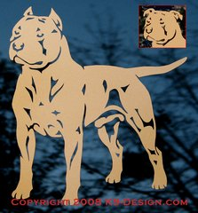 """American Staffordshire Terrier """"Pit Bull"""" Decal - Choose Color &  Natural or Cropped Ears"""