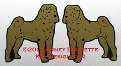 Chinese Shar-Pei Standing Magnet - Choose Color