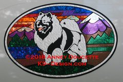 "Keeshond ""Colorado"" XL Oval Magnet"