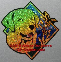 "Labrador Retriever Duck / Hunting Diamond 8"" Magnet - Choose Color"
