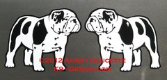 Bulldog Standing Magnet - Choose Color