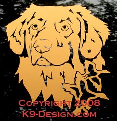 Nova Scotia Duck Tolling Retriever Headstudy with Ducks Decal